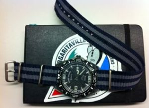 Tommy Bahama watch with Bond Zulu Strap